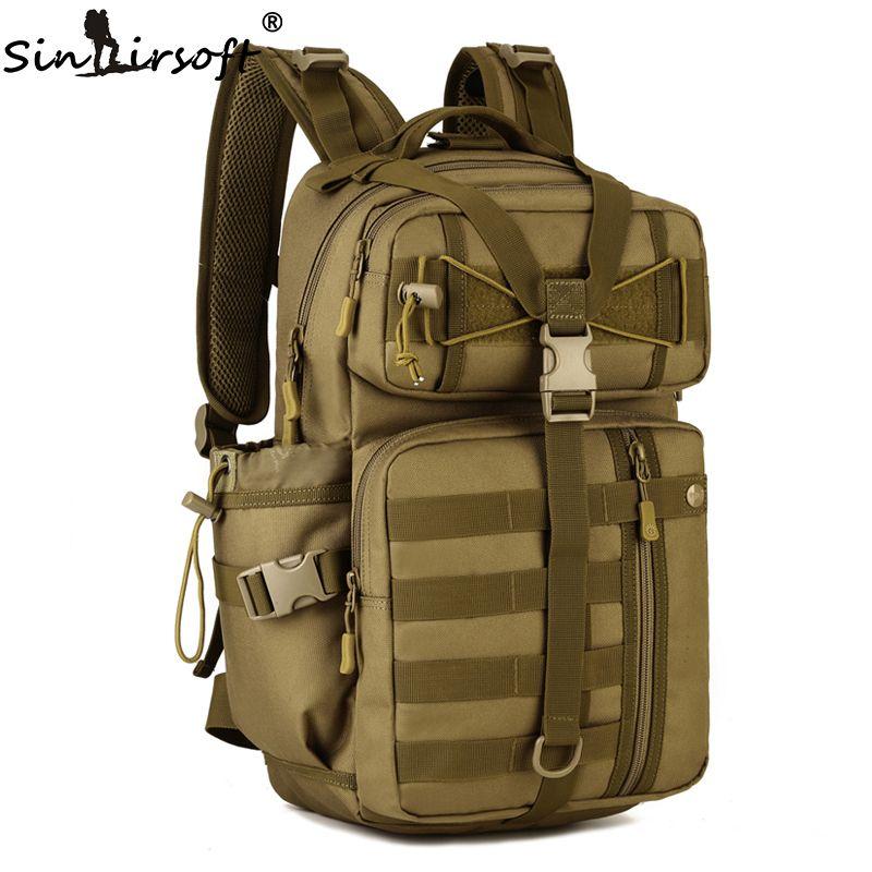 SINAIRSOFT All aperto Zaino Tattico 900D Impermeabile Spalla Dell esercito  Militare di campeggio di caccia Multi-scopo Molle Sacchetto di Sport LY0057 e94a55109aec7