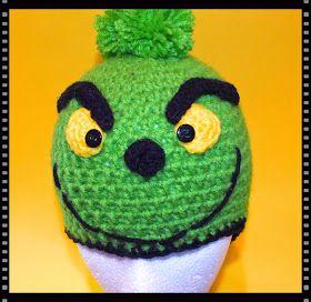 Free Crochet Snowman, Mr. Grinch & Blue's Clue Hat Patterns© #grinchscarfcrochetpatternfree