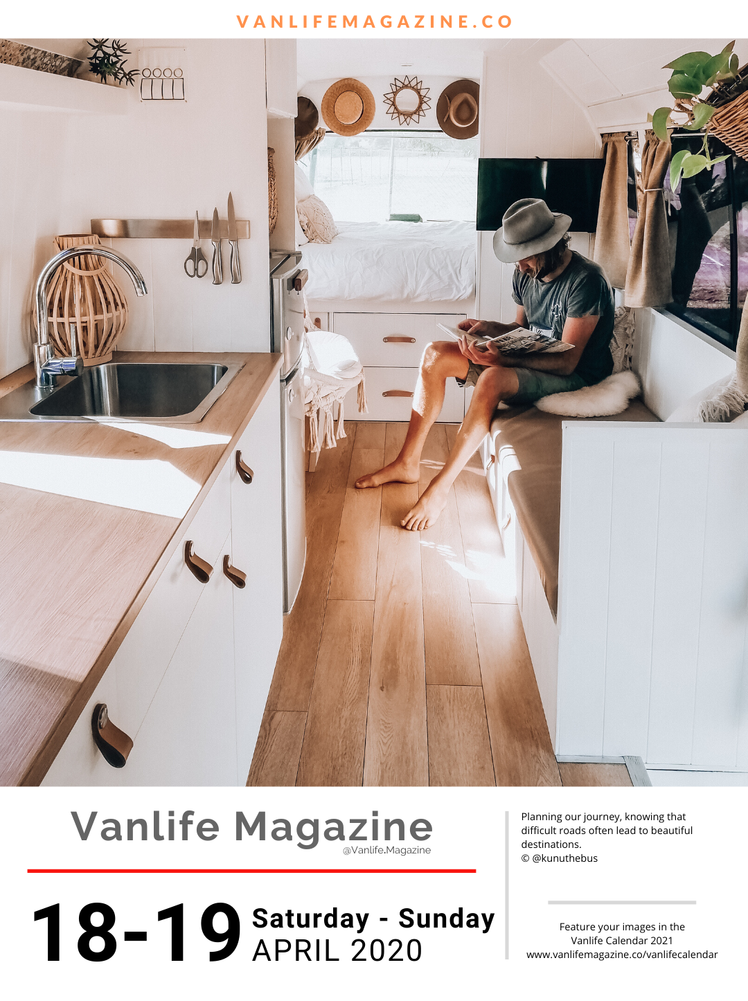 Vanlife Calendar 2020 Your daily vanlife inspiration