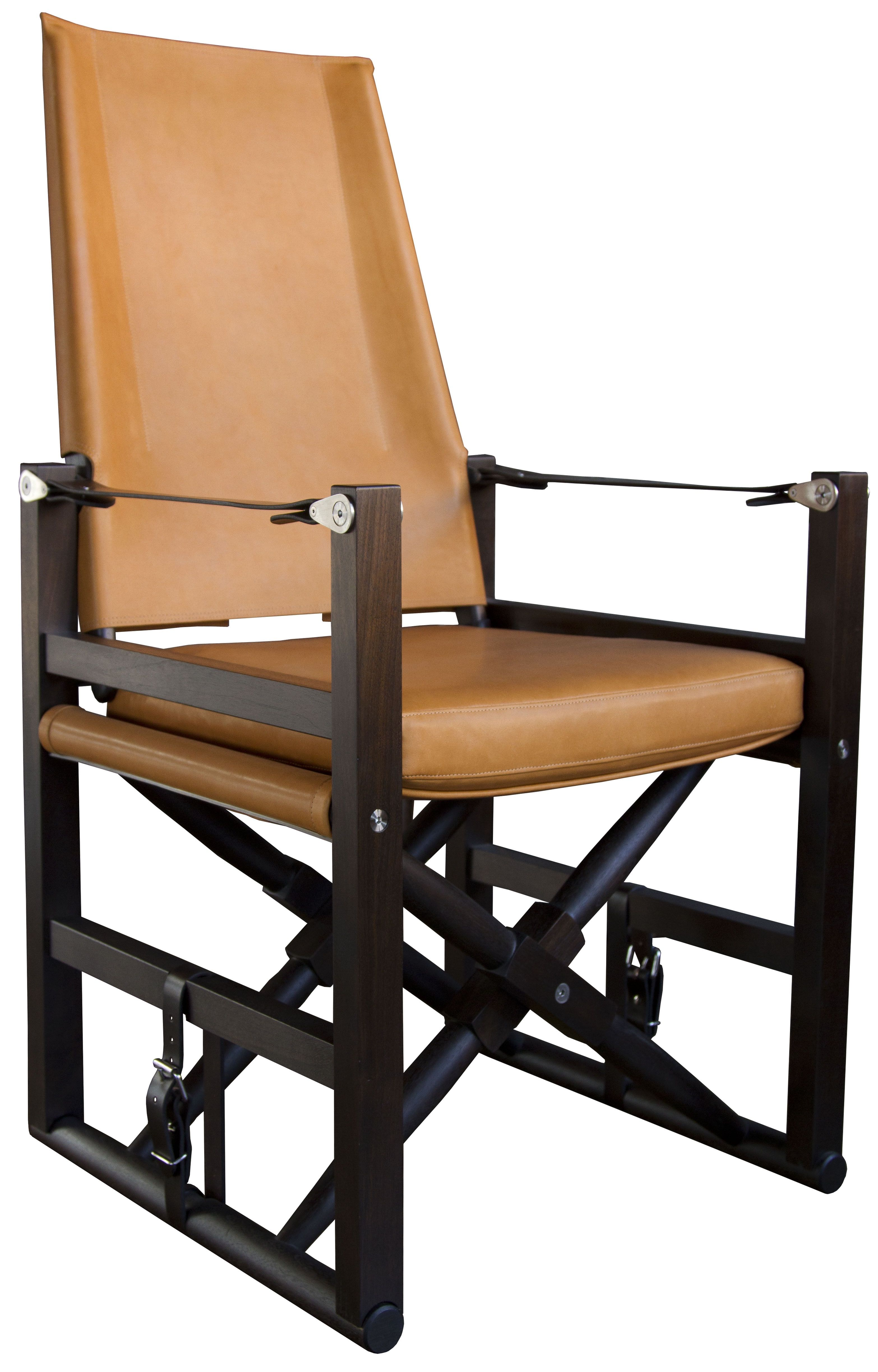High Back Cabourn Folding Chair in Leather