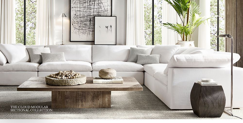 Jerome I Like The Shape Of This Couch And It Has A Lamp That Restoration Hardware Living Room Living Room Decor Modern Restoration Hardware Living Room Couch