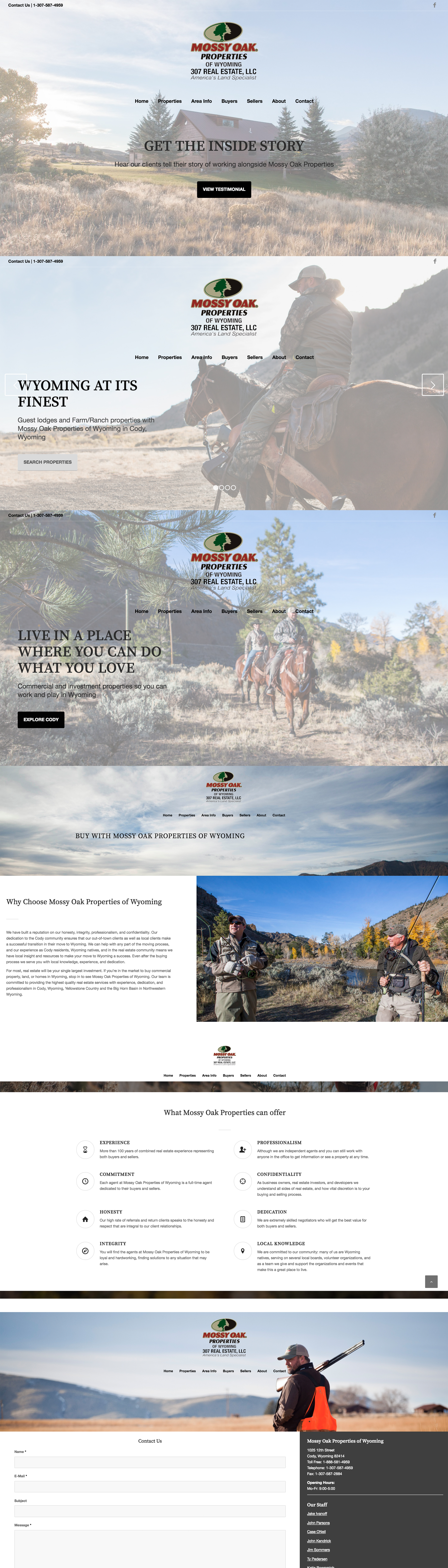 Mossy Oak Properties Of Wyoming Web Page Design Wyoming Realestate Ranches Webdesign Photography Branding Real Estate Buying Real Estate Wyoming