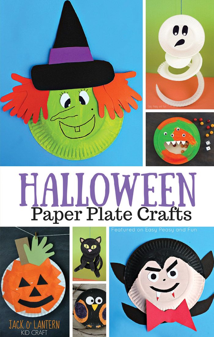 Halloween Paper Plate Crafts for Kids Paper plate crafts, Easy - halloween decorations for kids party