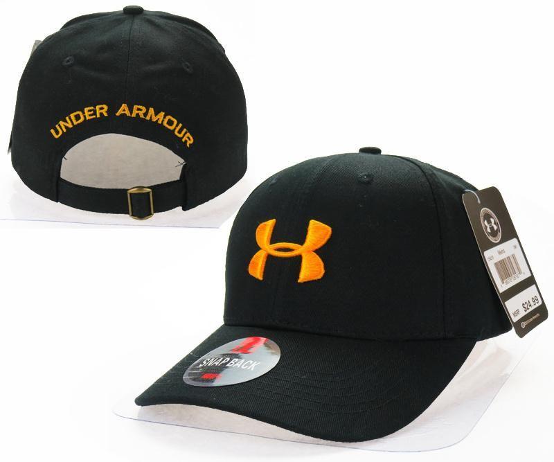 c09d60edad4 Mens   Womens Under Armour The UA 3D Embroidery Logo 6 Panel Strap Back  Baseball Adjustable Polo Cap - Black   Orange