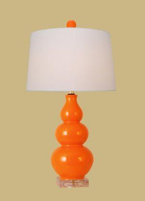 East Enterprises LPOG1010X Gourd Table Lamp   Orange