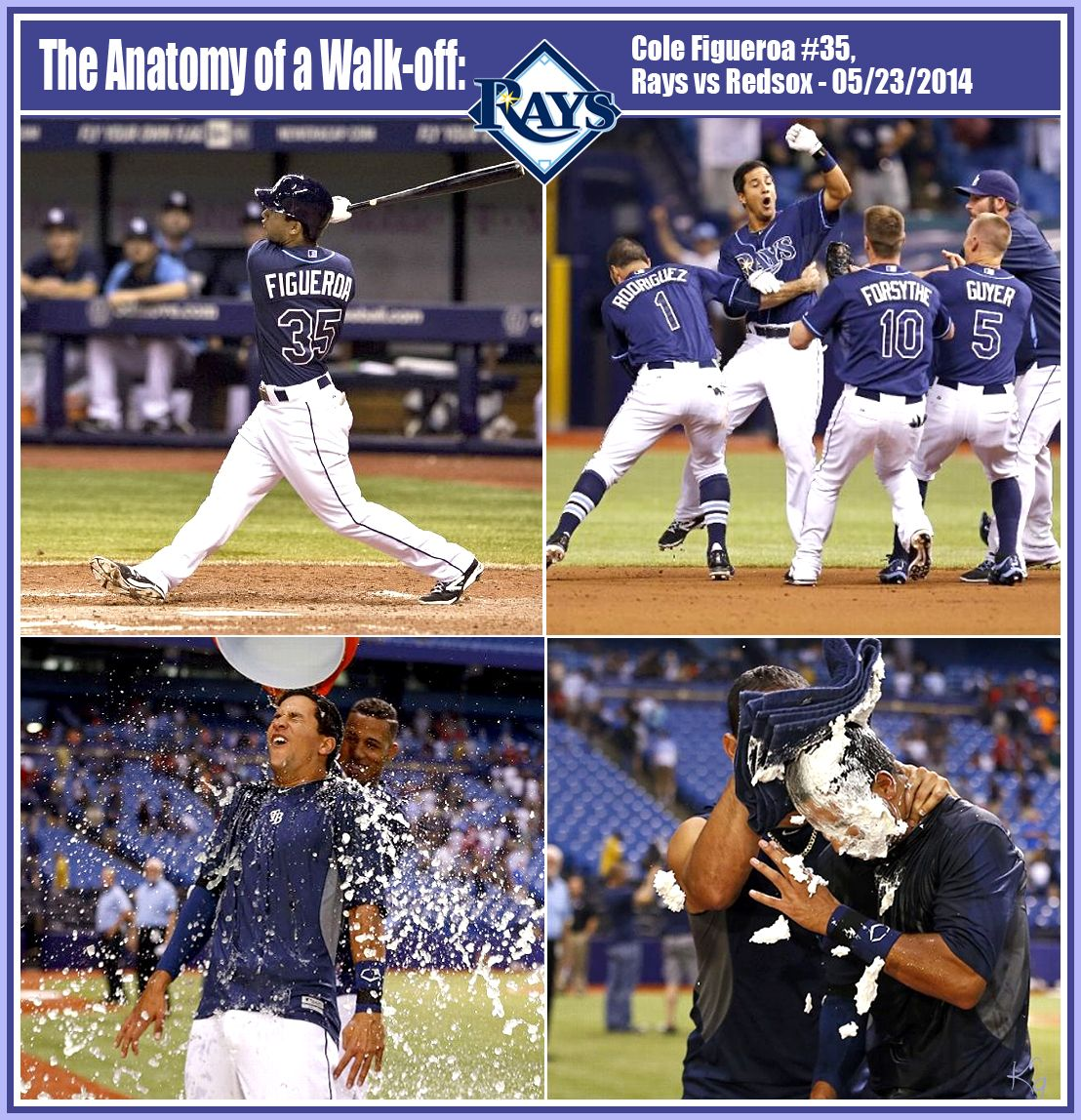 Tampa Bay Rays Pinch Hitter Cole Figueroa Hits A Walk Off Double In The Bottom Of The Ninth Inning As The Rays Edged The Red Sox Tampa Bay Rays Red Sox Rays