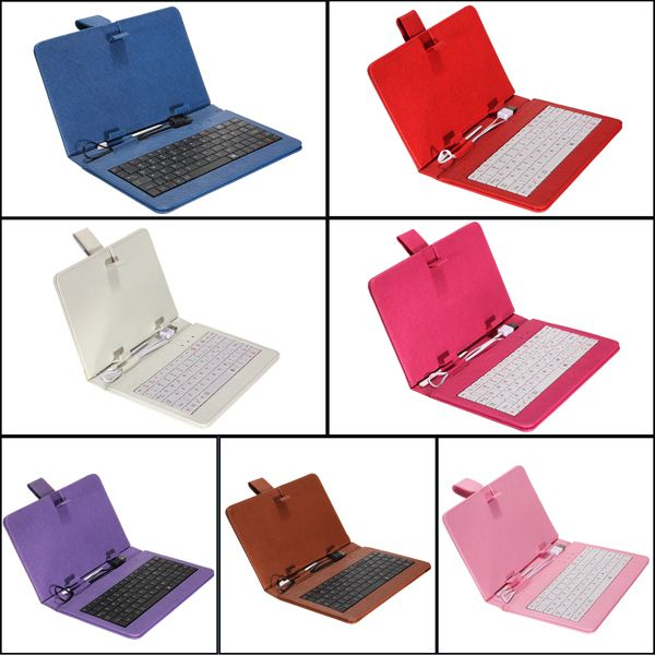 Magnetic Fold Stand USB Keyboard PU Leather Tab Case For 7 Inch Tablet
