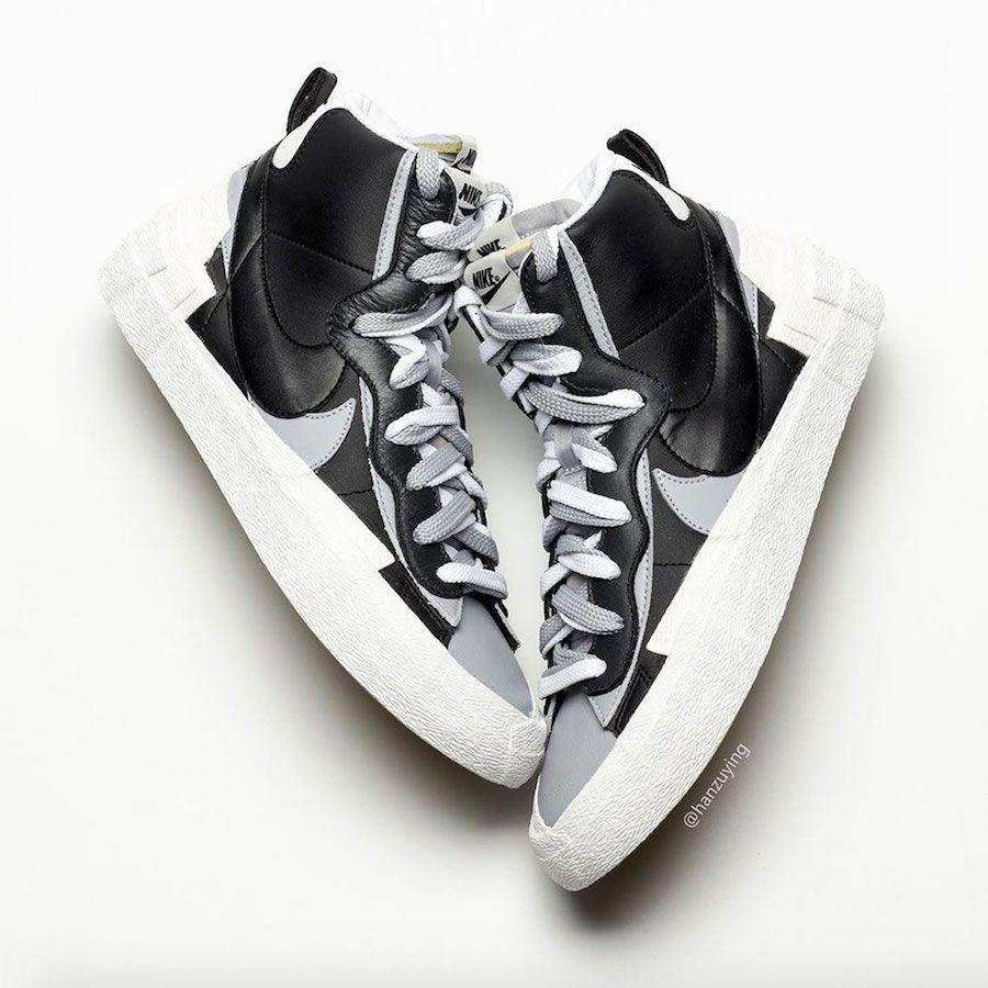 Sacai Nike Blazer Mid Black Wolf Grey