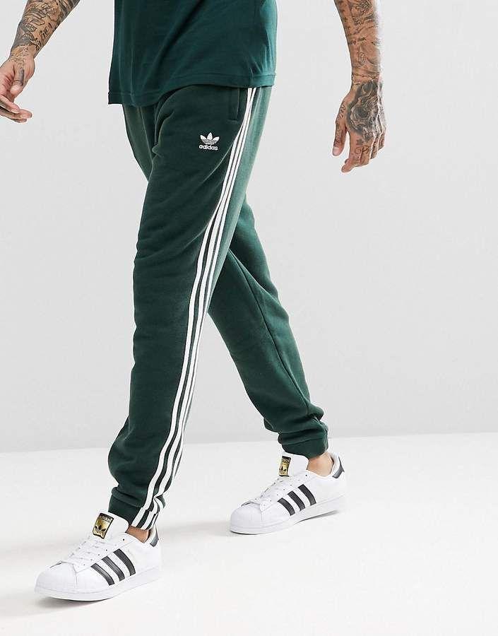 af57dba8 adidas Originals adicolor 3-Stripe Sweatpants In Green CX1898 ...
