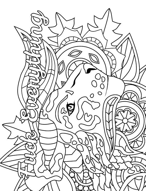 Tiger - Adult Coloring page - swear. 14 FREE printable coloring ...