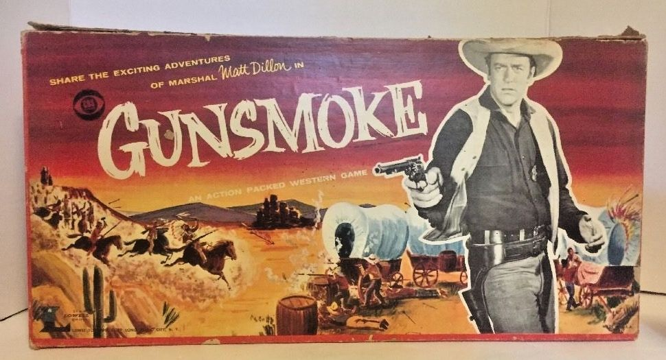 Vintage 1958 Gunsmoke Board Game By Lowell 99 Complete Gunsmoke Board Games Western Games