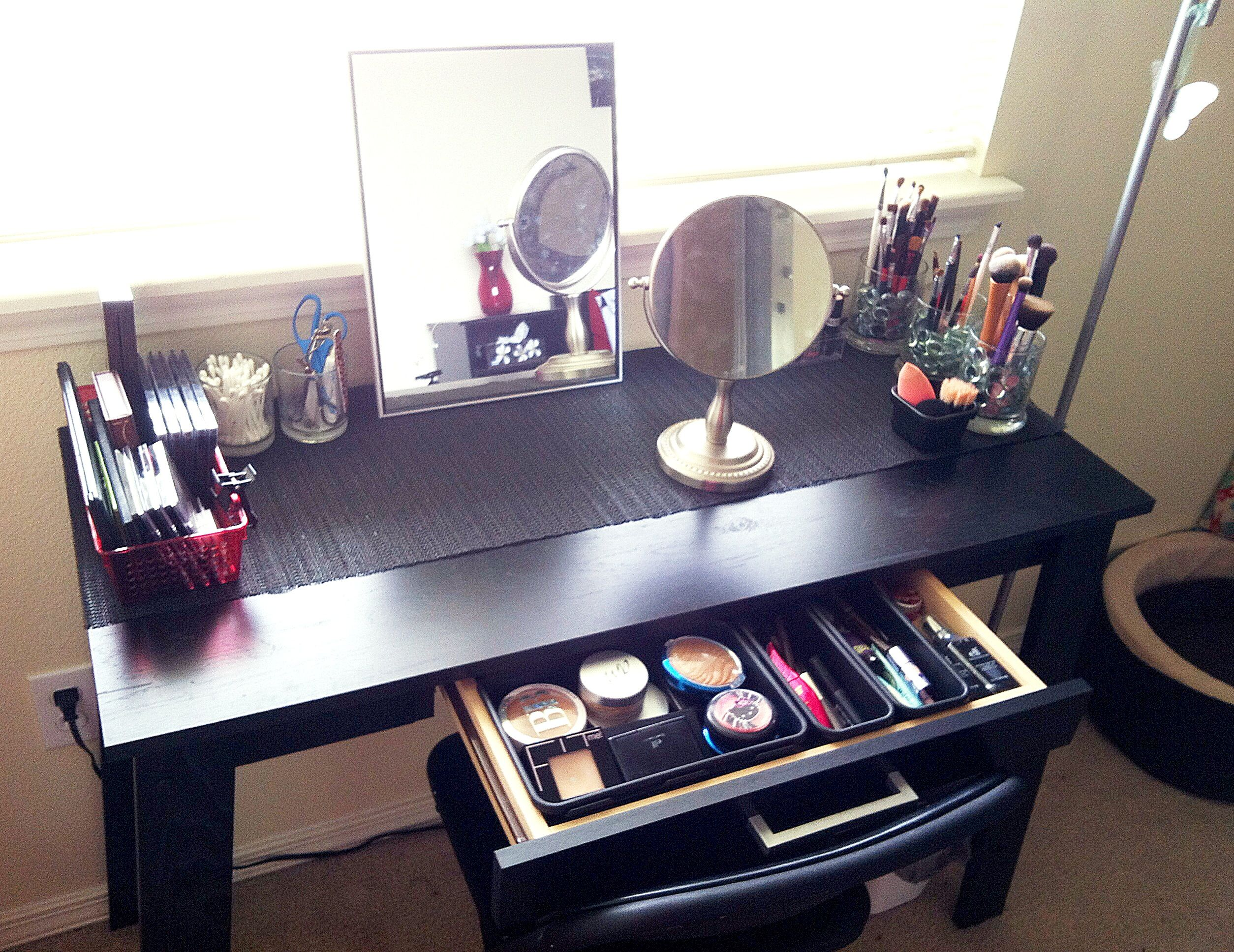 Makeup Table Beauty Area Vanity Table In Under 60 Diy Pinterest Vanity
