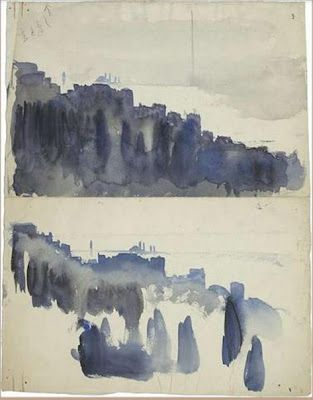 1911 Color Sketch By Corbusier Art Et Peinture Suisse Art