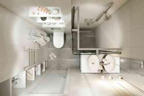 Déco studio et petit appartement  4 exemples remarquables Wet - plan maison avec appartement