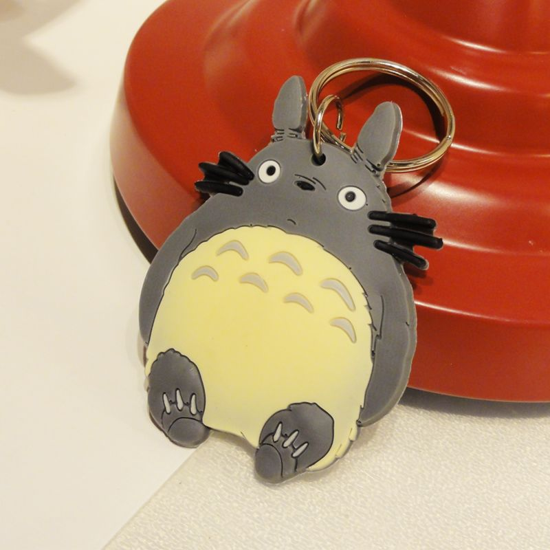 Silica gel metal ring totoro key chain keychain key ring bags hangings small keychain-inKey Chains from Apparel & Accessories on Aliexpress....