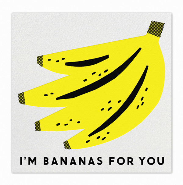 Im Bananas for You by Erin Jang Art and crafts – Food Valentines Cards