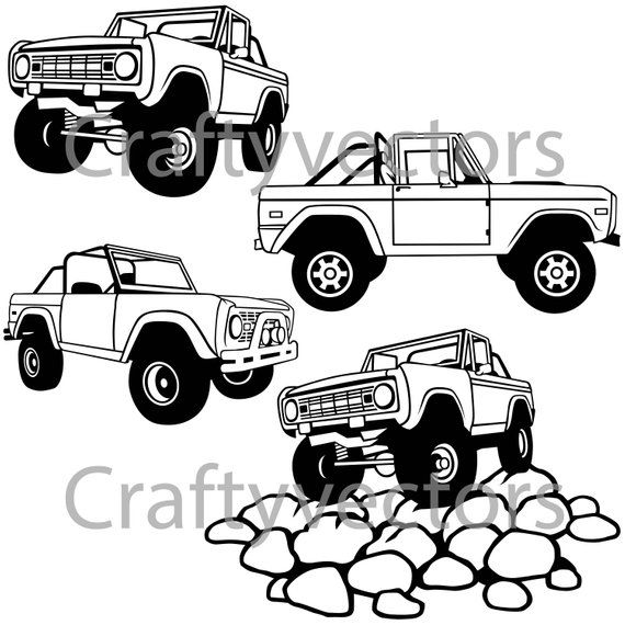 Ford Bronco Open Top Vector File In 2019