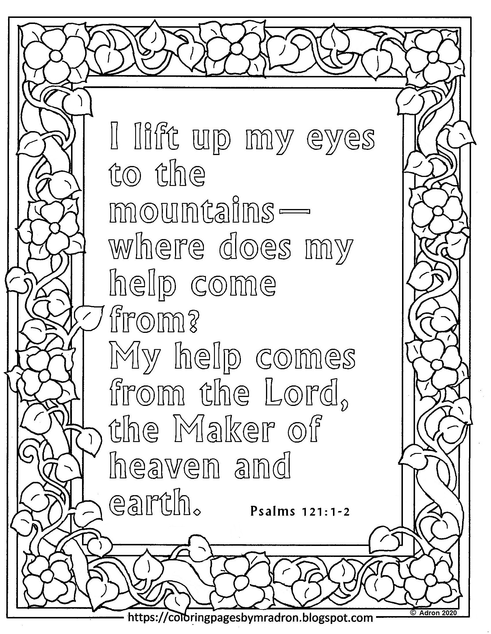 Free Print and Color Psalm 200:200-20 Page  Free printable coloring