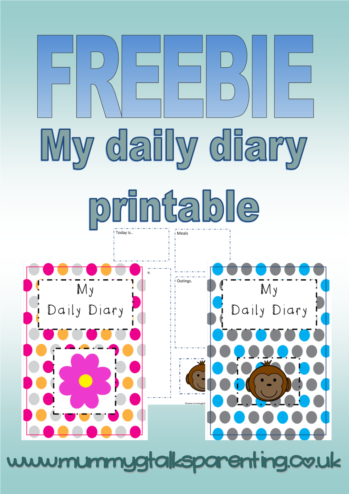 Freebie My Daily Diary Printable For Childminders And