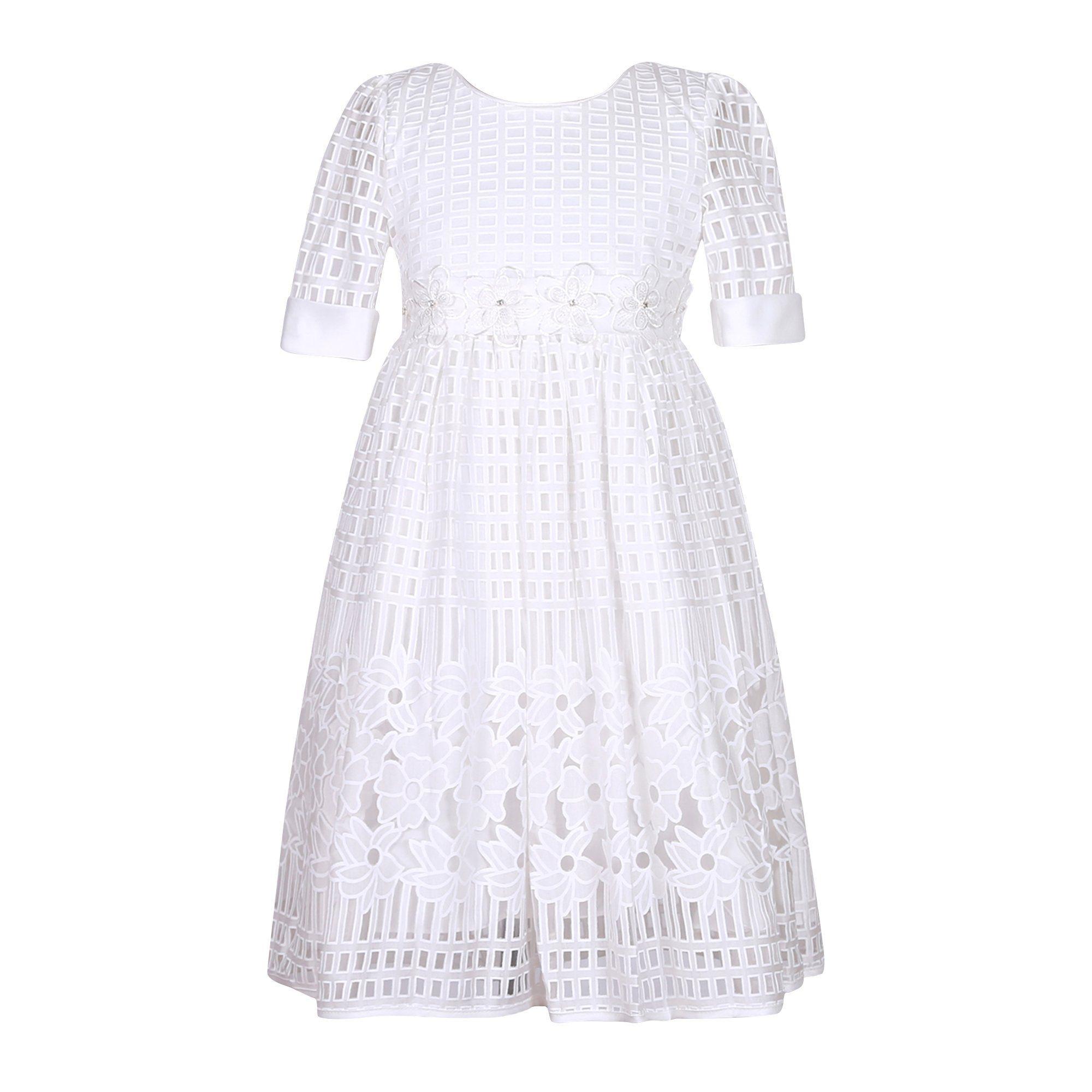 Richie house girlsu princess solid dress with belt rhb