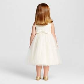 Toddler Girls' Ballerina Flower Girl Dress- Ivory 5T : Target