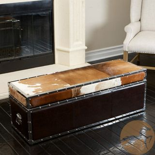 Arizona Cowhide Storage Trunk | Overstock.com Shopping - Great Deals on Ottomans