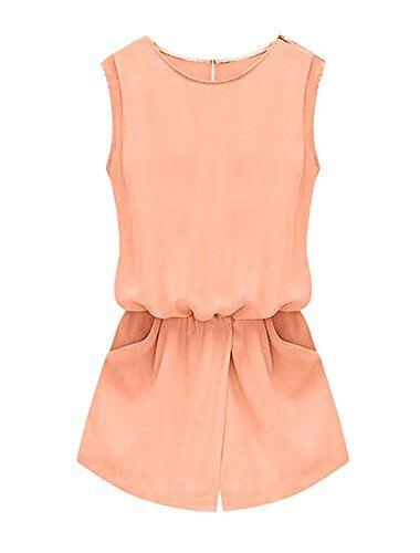 Allegra K Women Round Neck Cut Out Back Romper Summer Jumpsuit Pale Pink XS Allegra K http://www.amazon.com/dp/B00WW9044E/ref=cm_sw_r_pi_dp_-1eIwb1F4AZ9A