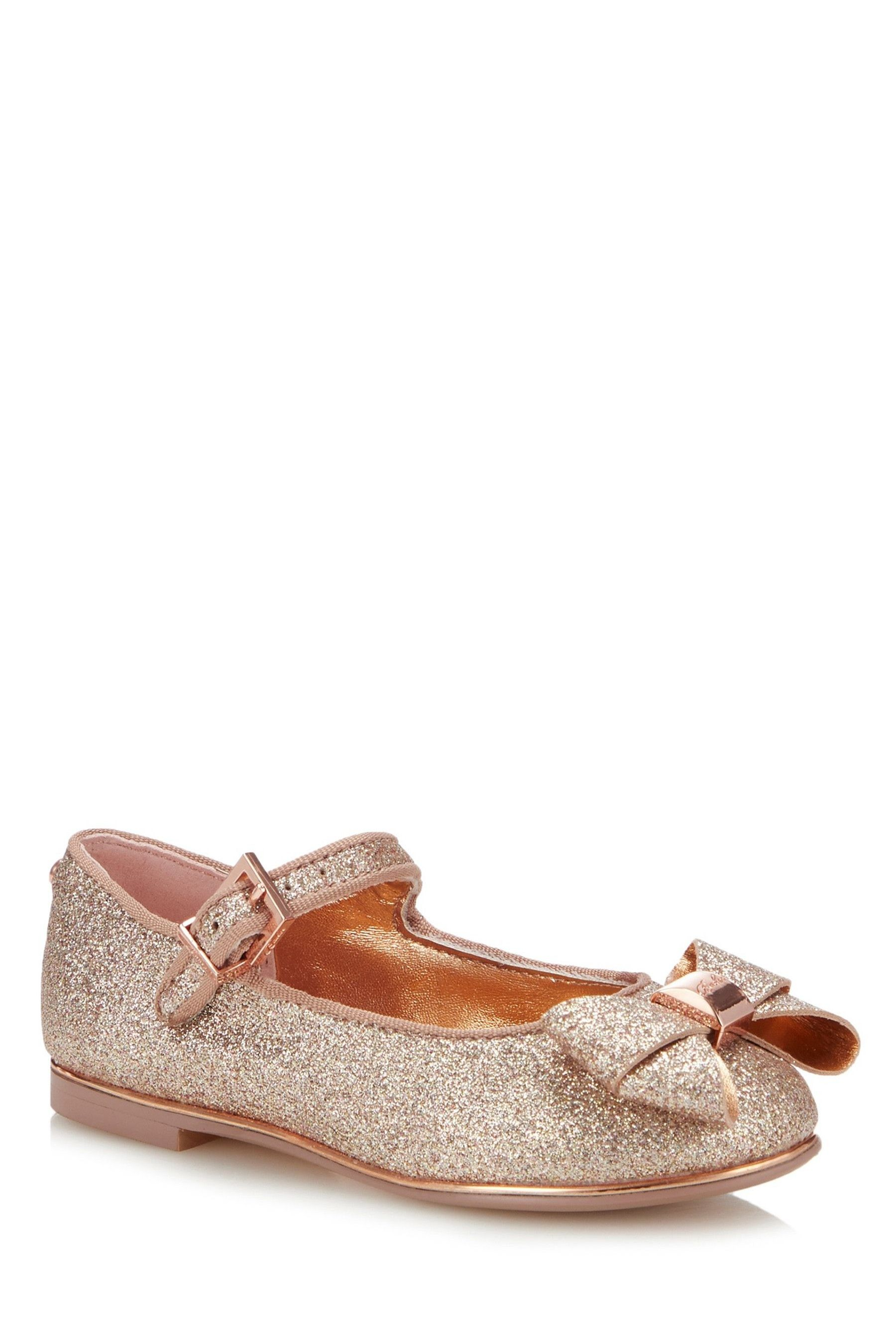 Buy Rose Gold Bow Leather Sandals (Younger Girls) from Next