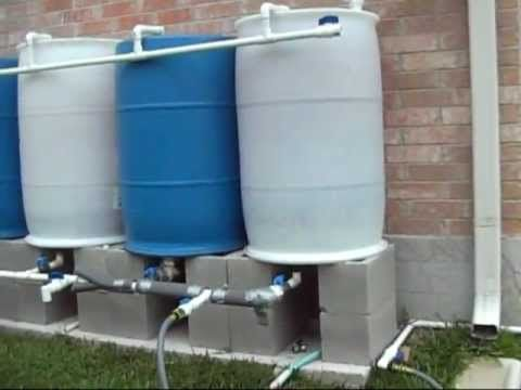 Rain Barrel Solar Pump Set Up Rain Barrel Rain Water Barrel Rain Barrel System
