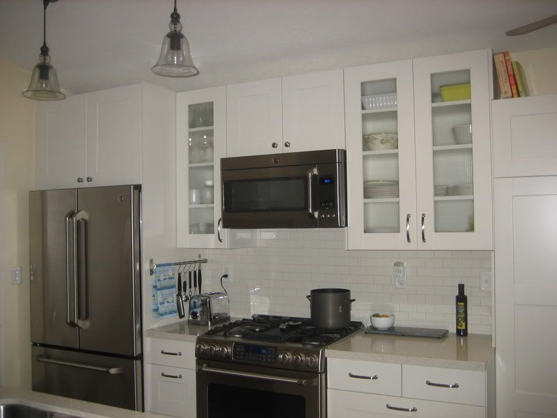 Kitchen Cabinet Design With Refriderator And Stove On Same Wall