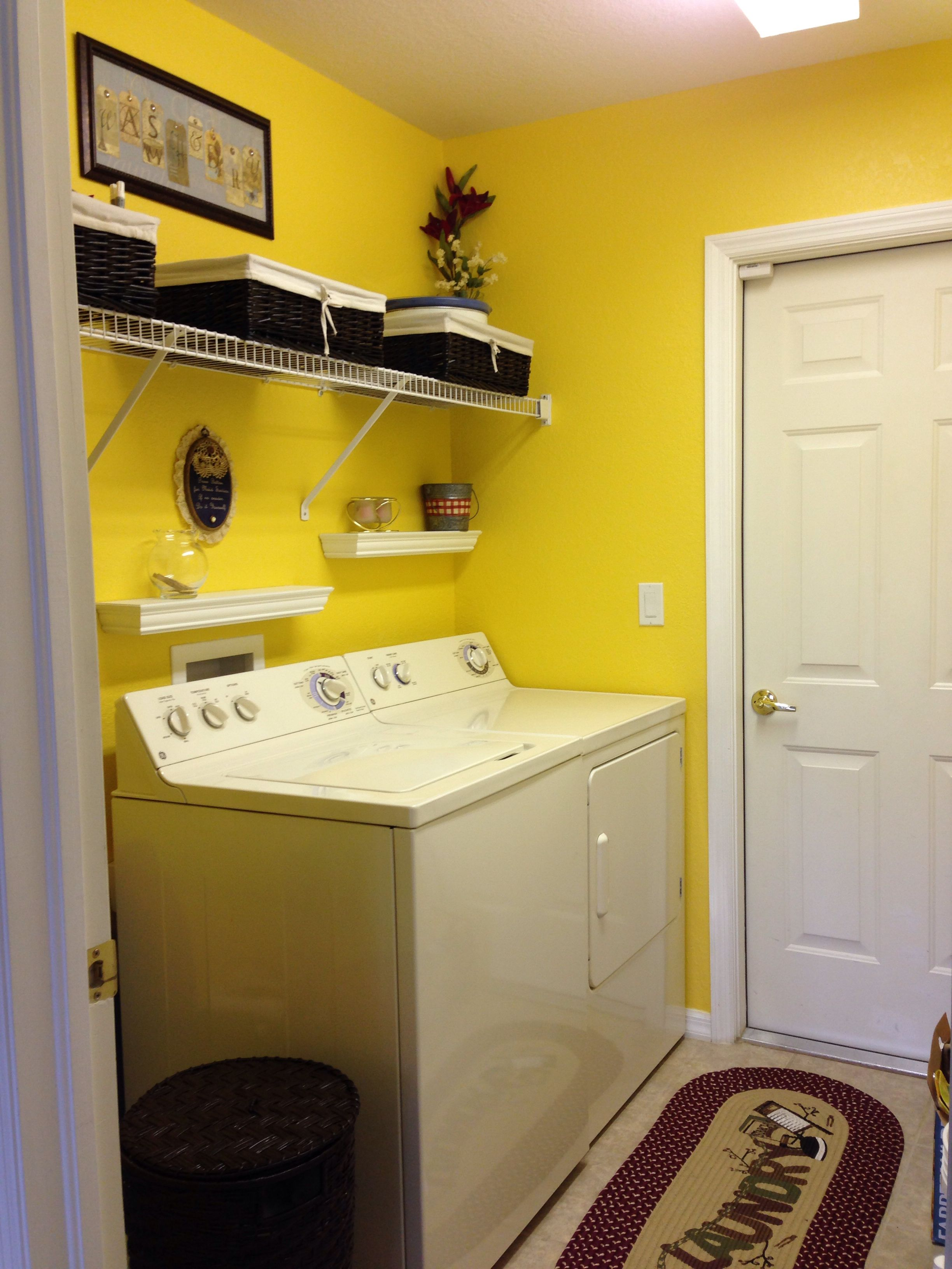 Yellow laundry room. Nice and bright. | Laundry room | Pinterest ...