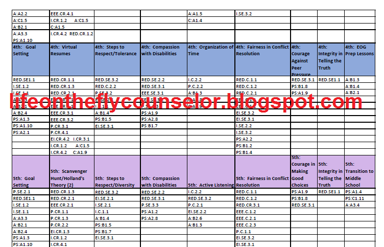 Sample Annual Calendar And GES/ASCA Cross Reference Combo Pack  On TPT Life  On