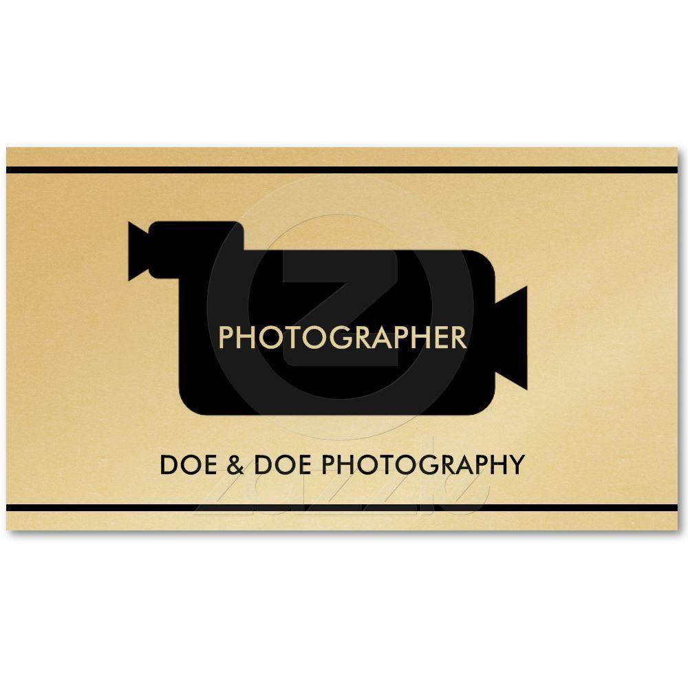 Photographer filmmaker photography gold paper business cards from photographer filmmaker photography gold paper business cards from zazzle reheart Gallery