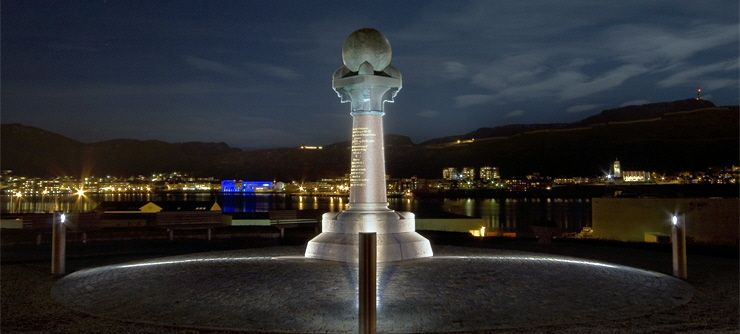 The Meridian Memorial, Hammerfest, Norvegia - Photo: Hammerfest Turist