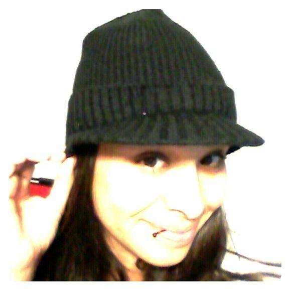 Black Knit Beanie w/ Brim Black Knit Beanie. Looks better on small heads, like mine! Accessories Hats