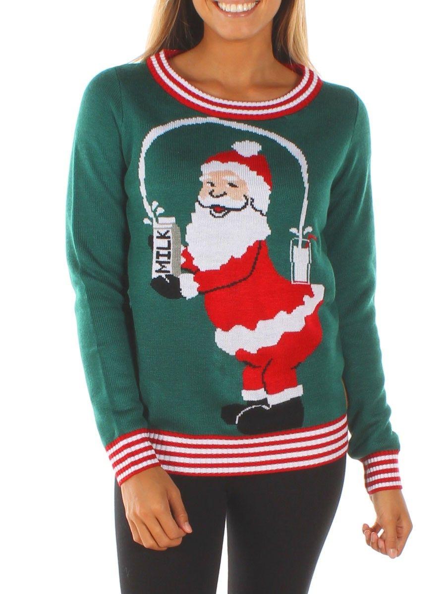 Kim Kardashian s Same Style Santa Christmas Sweater sweater dbf743f66