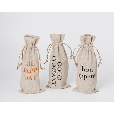 Face to Face Designs Linen Wine Bags