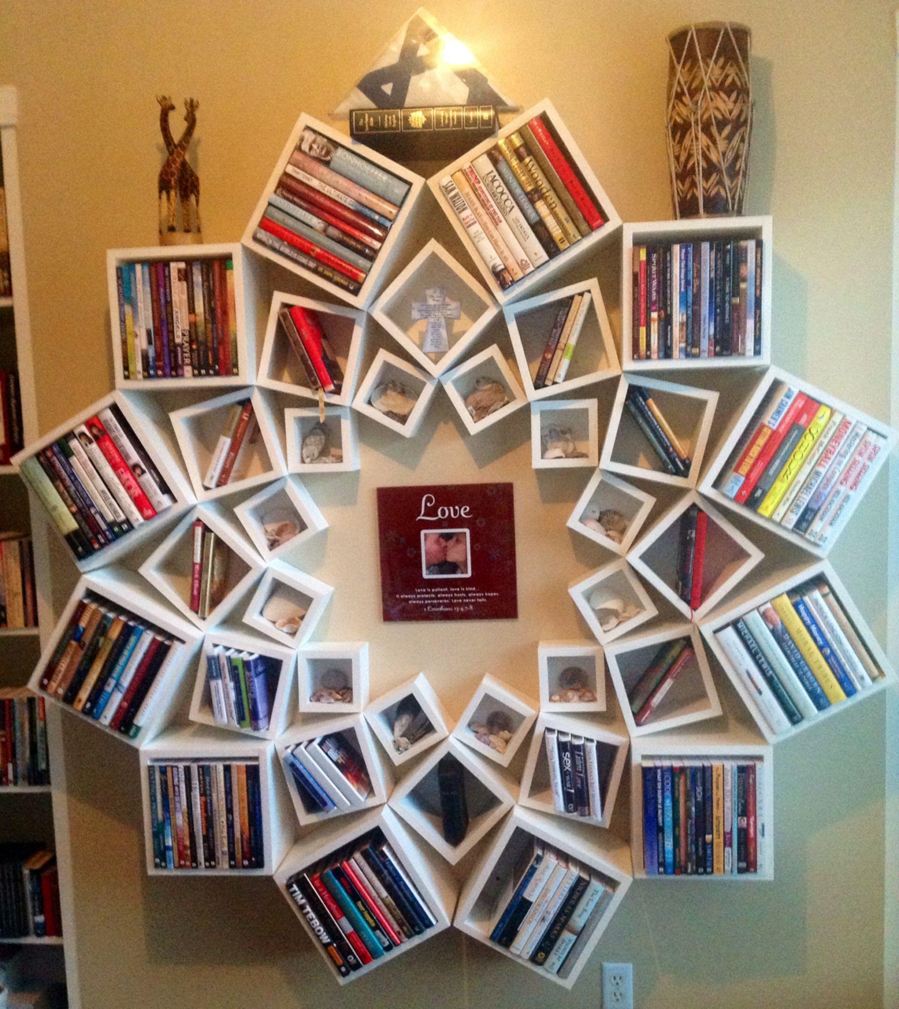 Do It Yourself Bookshelf Ideas: 20 Wonderful And Creative Bookshelves Design Anyone Can Do