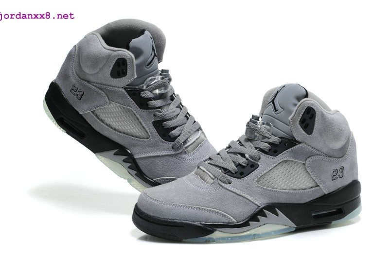 the latest 9106c 34259 Air Jordan 5 Retro For Women Light Graphite Wolf Grey Suede ...