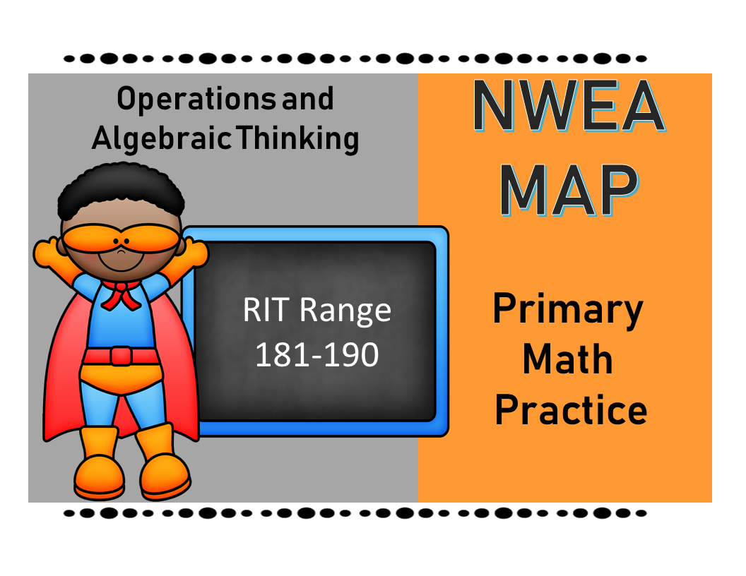 Nwea Map Primary Math Practice Operations And Algebraic