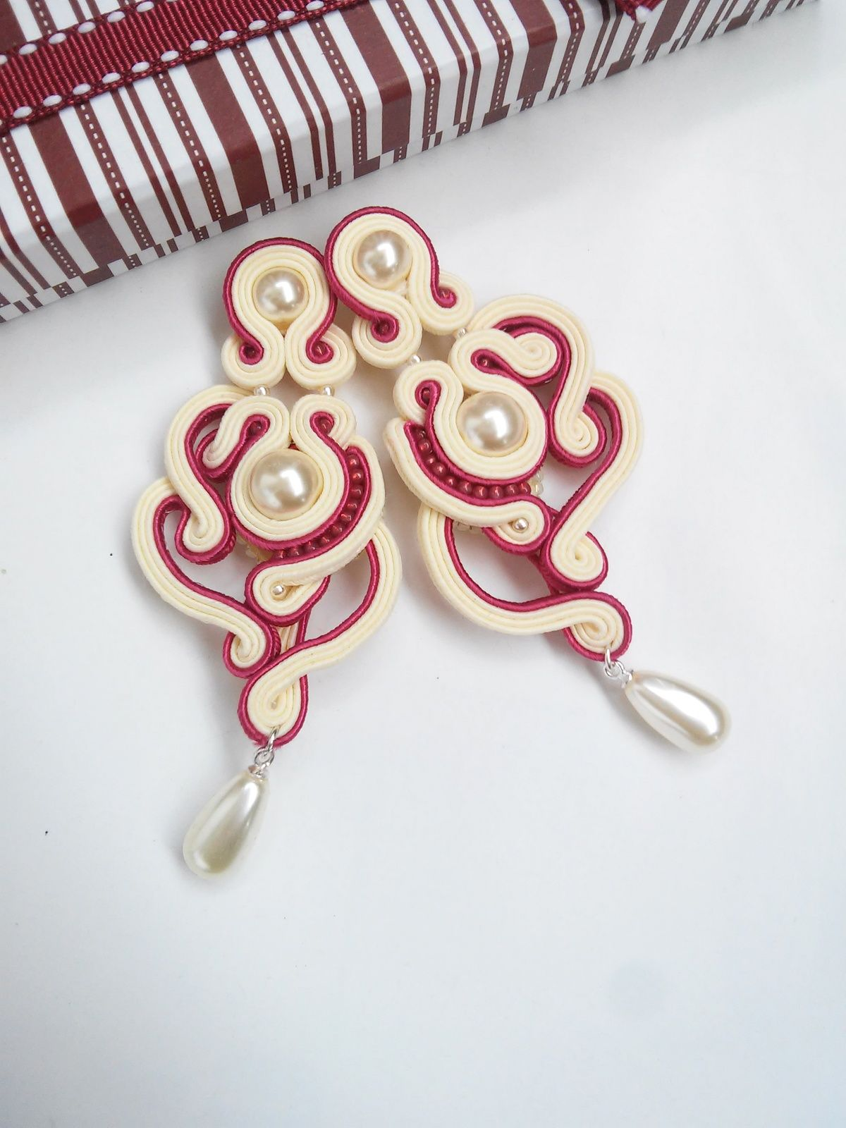Soutache wedding earrings by MaNiko https://www.facebook.com ...