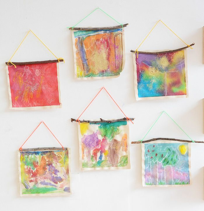 Nature Wall Hangings Kids Art Projects Preschool Art Toddler