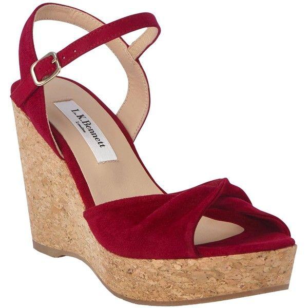 L K Bennett Adeline Wedge Heel Sandals 255 Aud Liked On