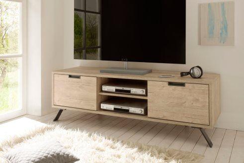 Meuble Tv 2 Portes Catania Imitation Chene Clair Meuble Tv Design Meuble Tv Mobilier De Salon