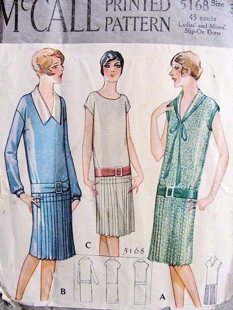 McCall 5168 | 20er Jahre Kleider, Mode 1920 und 20er jahre