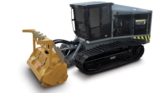 Fecon manufactures tracked carriers for rugged forestry mulching and