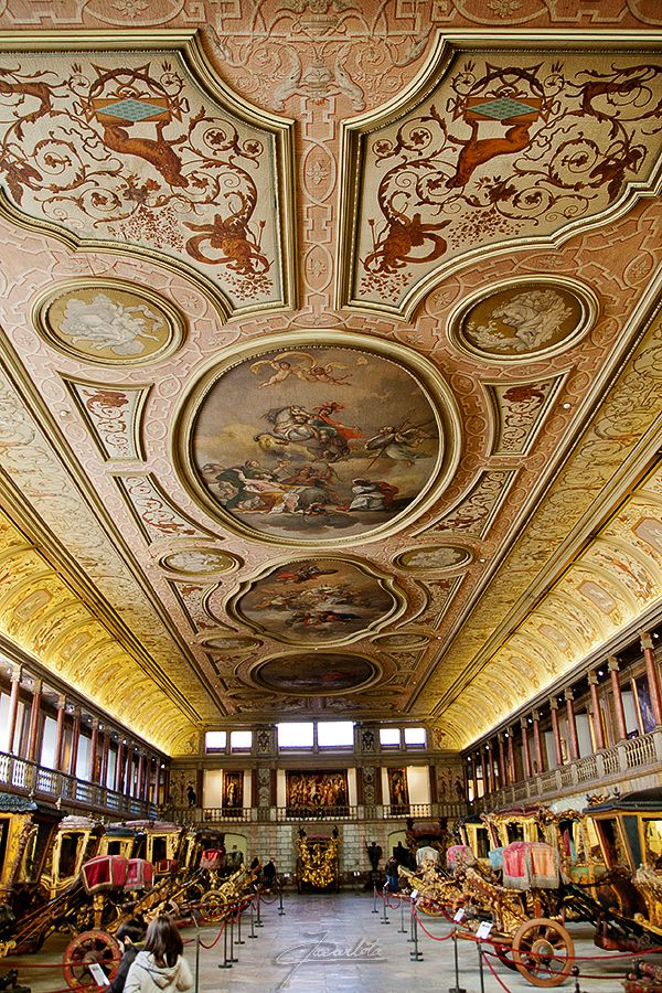 Magnificent ceilings of the Coach/carriages Museam. Lisbon, Portugal Museu by José Carlota, via 500px