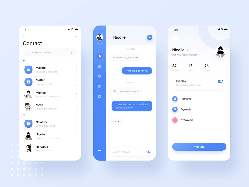 8 22a Chat App I Hope You Can Like Him By Wind On Dribbble Iphone App Design Health App Design Social App Design