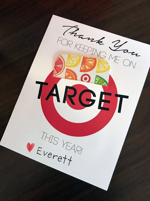 Free teacher gift printable teacher gift card teacher