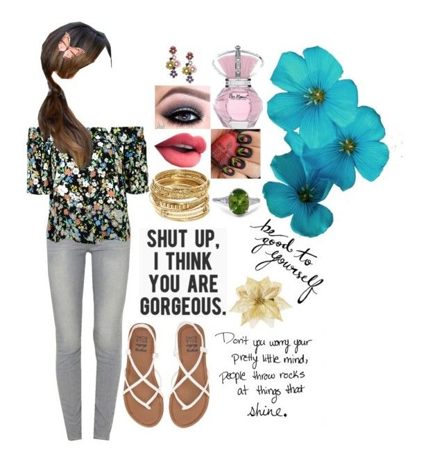 """""""Untitled #218"""" by lil1daffodil2baby3girl4 ❤ liked on Polyvore featuring Paige Denim, Topshop, Billabong, ABS by Allen Schwartz and Oscar de la Renta"""